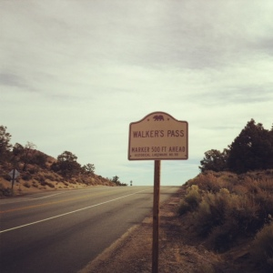 Walker's Pass sign